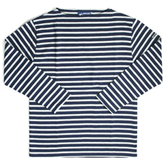 SAINT JAMES【セントジェームス】 ボーダーシャツ[OUESSANT]NAVY/GRIS
