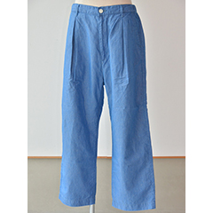 カフィカ kafika LINEN CHAMBRAY LOUNGE WIDE(kfk118)Blue(4)